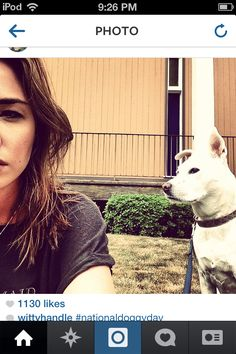 Scags and her dog. Photo from Instagram Allison Scagliotti, Warehouse 13, Dogs, Instagram, Pet Dogs, Doggies