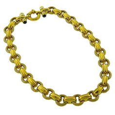 Bar & Chain Gold Necklace