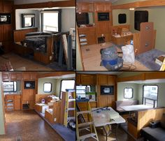 More pics from our neighbors' RV remodel.  The McCloskeys are almost finished! A  few more finishing touches and they'll be ready to hit the...