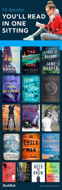 A reading list of books so good, you'll read them in one sitting! Including popular and bestselling fiction books. #readinglist
