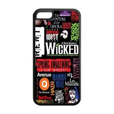 Broadway iPhone case // Phantom of the Opera, Wicked, Les Mis, Love Never Dies, etc... // http://www.amazon.com/dp/B00HFMNM1U/ref=cm_sw_r_pi_dp_x8R0tb1HKAFH1CJA