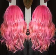 Strawberry Lemonade: Color Intensity Rose, Peach & Lilac were used to create this custom color. By @_haircircus on Instagram