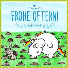 Frohe Oftern! :-) Easter Bunny Pictures, Unicorn Names, G Photos, Fall Color Palette, Doodle Designs, Premium Wordpress Themes, Funny Wallpapers, Fantasy World, Funny Comics
