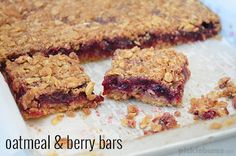 Oatmeal and Berry Bars - easy to make sweet slice