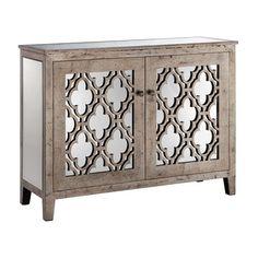 Stein World Cabinets Mirrored 2-Door Cabinet