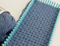 Loom Patterns for Bags | woven project using cotton yarn and the Martha Stewart loom.