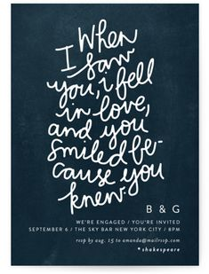 You Smiled Because You Knew Engagement Party Invitations These romantic quotes will have you swooning and remembering the moment you fell in love. Quotes For Him, Quotes To Live By, Me Quotes, Thing 1, Engagement Party Invitations, Psychology Quotes, Smile Because, Boyfriend Quotes, Deep