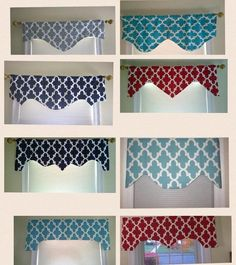 Valance, window aprons, scalloped valance, decorative valance window, modern with beautiful geometric trellis design and an attractive cut that can be used along or over an animal or other panel. Other color options available. CUSTOM ORDERS will be Trellis Design, Valance Window Treatments, Window Coverings, Diy Curtains, Window Curtains, Window Seats, Kitchen Curtains, Valences For Windows, Bay Windows