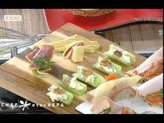 Αποτέλεσμα εικόνας για διακοσμησεις με τυρια Food Styling, Sushi, Holidays, Ethnic Recipes, Youtube, Holidays Events, Holiday, Youtubers, Youtube Movies