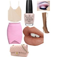 SPRING into Action by lexy13430 on Polyvore featuring polyvore, fashion, style, Chelsea Flower, Gianvito Rossi, Chanel, Charlotte Tilbury and OPI