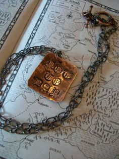 Game of Thrones inspired Necklace Hand Hammered NOT by CENTiment, $28.00