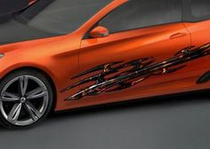 FULL COLOR CAR VINYL GRAPHICS DECAL FLAME STICKER 005