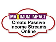 Create Passive Income Streams Online - Make Maximum Impact series Passive Income Streams, Creating Passive Income, How To Become, How To Make, Destiny, Learning, Create, Business, Books
