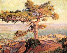 Theo Van Rysselberghe (1862-1926), Pin sur la Méditerranée, 1916, huile sur toile