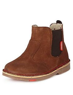 Walkmates Suede Chelsea Ankle Boots (Younger Boys)