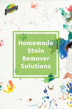 Tackle the biggest stains in your home with this cleaning solution! This Homemade Stain Remover is inexpensive and is strong enough to handle even the toughest stains. Use Bounty Paper Towels and this home remedy to keep your home sparkling clean.