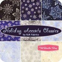 Holiday Accents Classics Fat Quarter Bundle RJR Fabrics