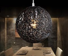 Instantly add rustic sophistication to your home with the Spherical Bine Pendant Lamp.