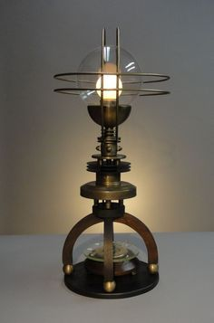 Random industrial table lamp