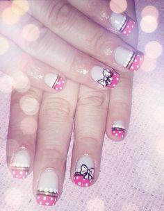 Moños!! Cute Nails, Beauty, Pretty Nails, Beauty Illustration