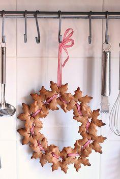 una corona de galletas..tengo que hacerla!!!