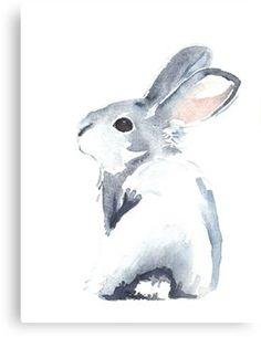 Moon Rabbit I Canvas Print