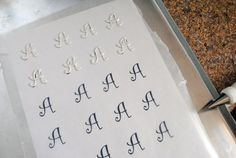 Love of calligraphy + cooking = Monogrammed cakes and cookies
