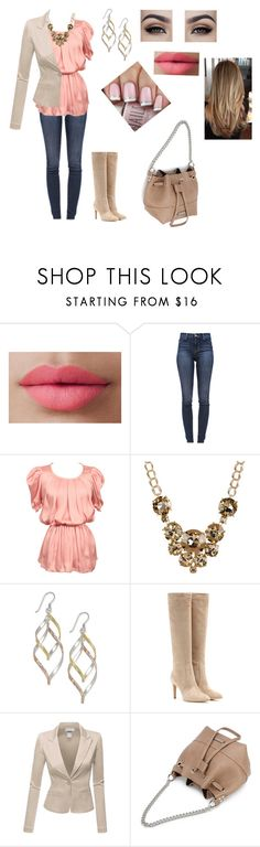 """Untitled #494"" by julie-ruud ❤ liked on Polyvore featuring LORAC, J Brand, Natasha Accessories, Giani Bernini, Gianvito Rossi and Doublju"