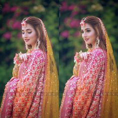 Image may contain: one or more people and people standing Fancy Wedding Dresses, Bridal Mehndi Dresses, Bridal Dress Design, Bridal Outfits, Bridal Lehenga, Asian Wedding Dress Pakistani, Pakistani Formal Dresses, Pakistani Dress Design, Shadi Dresses
