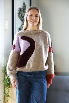 Light, cropped Cardi Lett, kort jakke pattern by Anna & Heidi Pickles