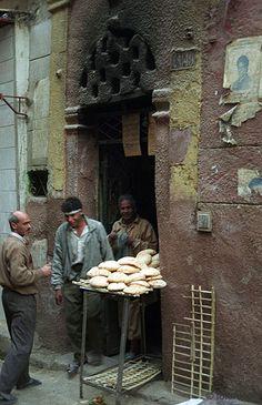 El Cairo  (Egipto).  Horno de pan