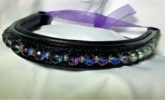 Equestrain crystal browband.17 inch black soft padded leather. FREE shipping USA