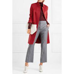 Max Mara Camel hair coat ($1,425) ❤ liked on Polyvore featuring outerwear, coats, camel hair coat, camel wool coat, maxmara coat, white coat and maxmara