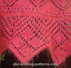 ABC Knitting Patterns - Victorian Enchantment Shawl