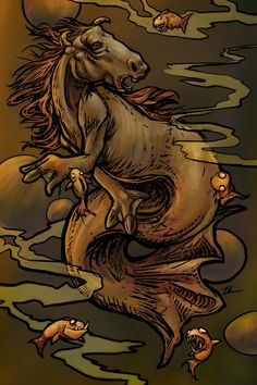 Sewer Hippocampus by ursulav on deviantART