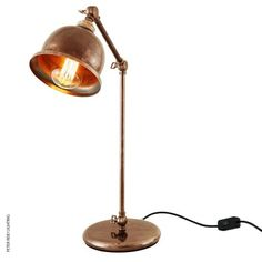 Dale Table Light Antique Brass by Mullan @peterreidlighting