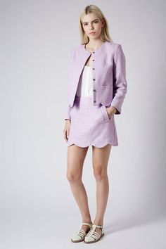 Betty Boucle Scallop Jacket and Skirt - Suits and Co-ords - Clothing - Topshop USA