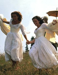 """mademoisellelapiquante: """" Emma Thompson and Kate Beckinsale in Much Ado About Nothing - 1993 """" Emma Thompson, Princess Aesthetic, Kate Beckinsale, Mode Vintage, Pride And Prejudice, Mode Inspiration, Mode Outfits, Pretty Dresses, Flower Girl Dresses"""