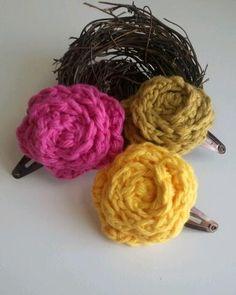 flower clip by OwlsNestCrochet on Etsy, $4.50