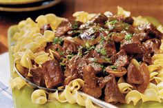 """Beef With Red Wine Sauce - Slow-Cooker Suppers - Southernliving. Recipe: Beef With Red Wine Sauce This is an easy way to make a simple one-dish dinner that is sure to wow your guests. This beef recipe, flavored with gravy and mushrooms, is a hearty, filling dish. Pair it with a salad or bread, for sopping up the sauce, and you're ready to eat. In the words of one online reviewer, """"the roast was fork-tender!"""" That is just how it should be, and your slow-cooker beef will be just as delicious…"""