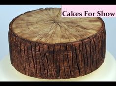 This is how I made a simple bark effect in sugarpaste/fondant to create a tree log cake. I used:- * Sugarpaste/fondant * Sharpe craft knife * Knife modelling...
