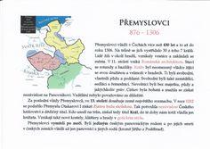 Přemyslovci (Kartičky o Historii - Doporučuji zafoliovat a pak chronologicky ukládat do pořadače)