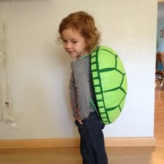 The Almost Perfectionist: Homemade Turtle Costume for ,my yertle the turtle :) Kids Ninja Turtle Costume, Turtle Costumes, Ninja Turtle Party, Ninja Turtles, Seussical Costumes, Diy Costumes, Costume Ideas, Bowser Halloween Costume, Homemade Turtles