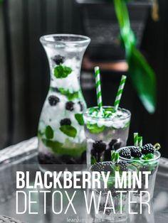 blackberry mint detox water