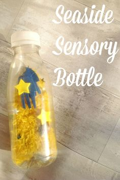Inspired by the story of Miffy at the Seaside we made a seaside sensory bottle.