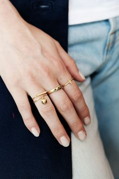RIVET RING GOLD - ORB RING GOLD - COMET RING GOLD - TWIG RING GOLD (14 KARAT GOLD, available in our store Salon Artistique, or in SILVER online)