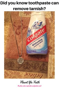 Costume Jewelry Tip-Did you know toothpaste can remove tarnish?