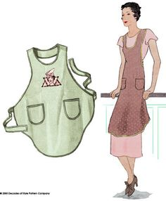 Favorite Sewing Projects It's been called the perfect apron pattern and deservedly so. 1 yard of fabric will get the job done; 2 yards for a reversible apron. With child's apron pattern - Child Apron Pattern, Vintage Apron Pattern, Aprons Vintage, Vintage Linen, Unique Vintage, Free Sewing, Vintage Sewing Patterns, Apron Sewing Patterns, Fabric Patterns