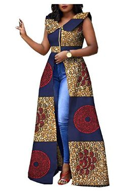 Saw this lovely Ankara outfit and loved it. It goes really well with a pair of jeans and some great jewelry African Fashion Ankara, Latest African Fashion Dresses, African Dresses For Women, African Print Dresses, African Print Fashion, Africa Fashion, African Attire, African Wear, African Women