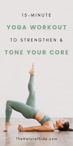 Yoga for Beginners: 7 Yoga Poses to Strengthen and Tone Your Core Yoga for Beginners: 15 Minute Yoga Workout to Strengthen & Tone Your Core. These Yoga Poses will he Fitness Workouts, Yoga Fitness, Side Workouts, Physical Fitness, Fitness Diet, Fitness Style, Fitness Humor, Muscle Fitness, Fitness Games